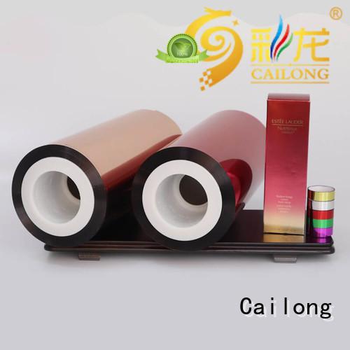 Cailong pet plastic film wholesale for advertising