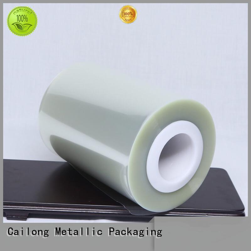 Cailong antiuv pet film material bulk production for stickers