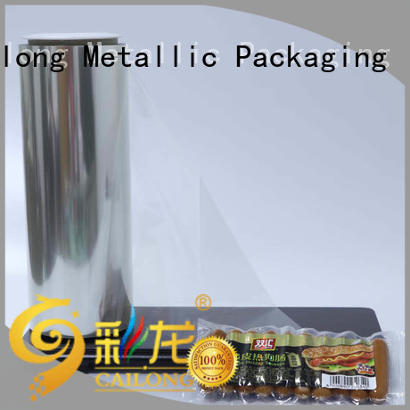 Cailong pethp clear plastic film free design used for labels
