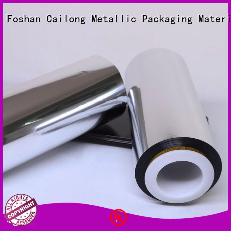 Cailong bopp metalized plastic film bulk production for shopping bags