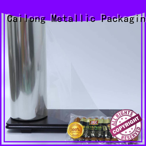 sealable polyester pet film pet for advertising Cailong