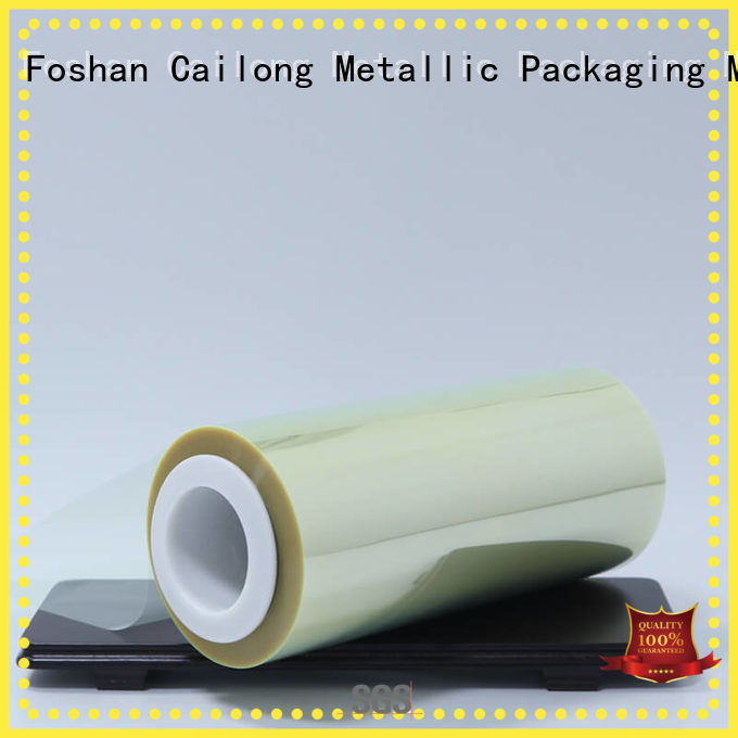 Cailong static film polyester free quote for shopping bag
