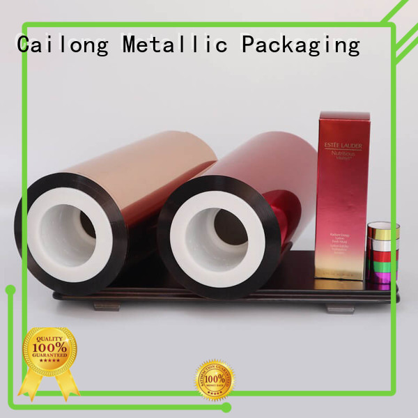 Cailong Color Coating transparent color film blue for labels