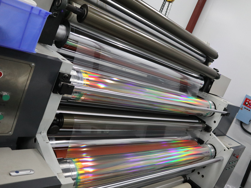 Cailong Video- BOPP& BOPET Holographic Film for lamination