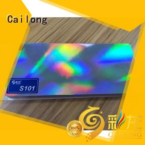 Cailong film holographic plastic bulk production for alcohol