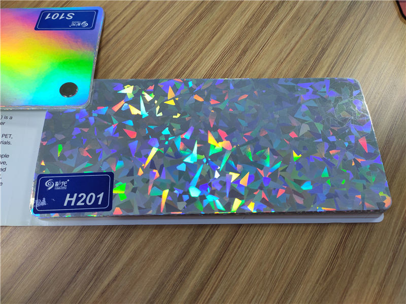 Seamless holographic film film bulk production for daily chemicals