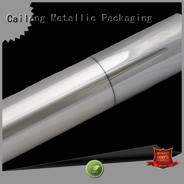 Cailong matte metalized packaging cost used for stickers