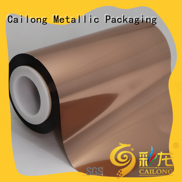Cailong excellent Copper Metallized PET Film workwear used for labels