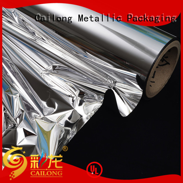 Multiple Aluminum metallised pet check now used for printing Cailong