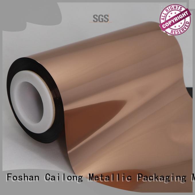Cailong excellent Copper Metallized PET Film for medicine