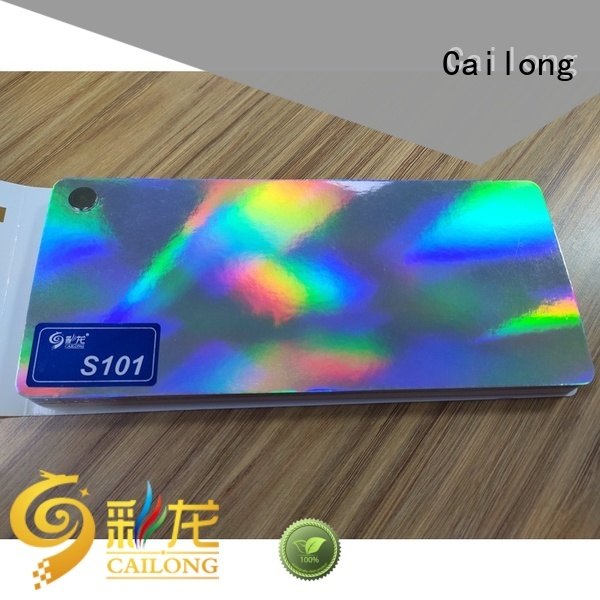 Cailong reliable holographic plastic sheets bulk production for Tinplate