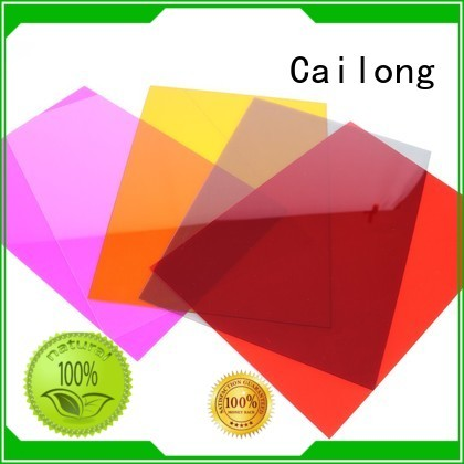 Cailong grade pc film customization for aerospace