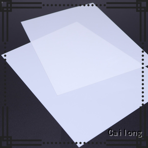 Cailong opaque polycarbonate plastic sheets factory price for sporting goods