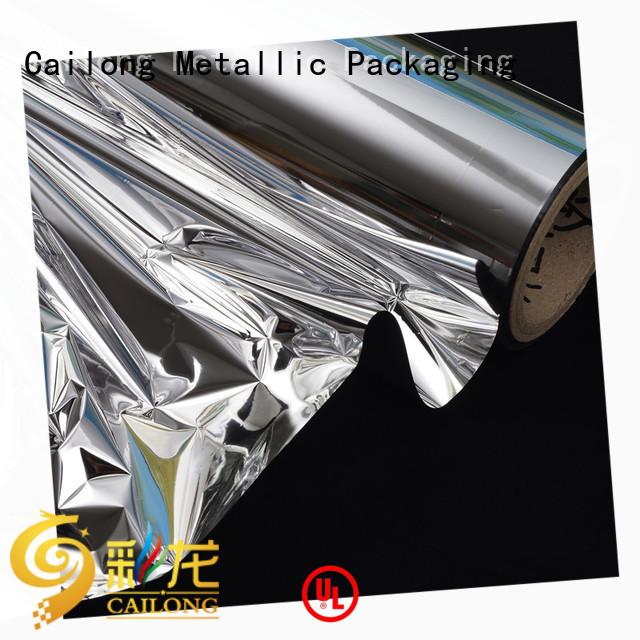 metallized plastic film bulk production for decorative materials Cailong