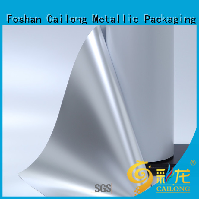 Cailong pet metalized paper supplier for meat