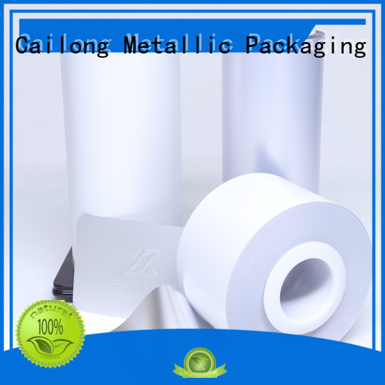 coating color pet film supply for packing foor Cailong