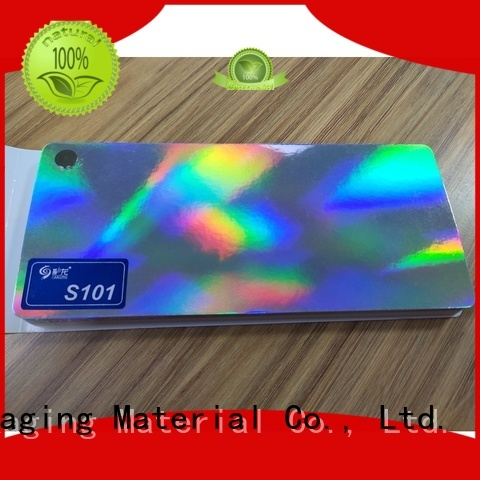 Cailong Textured transparent holographic film factory price for alcohol