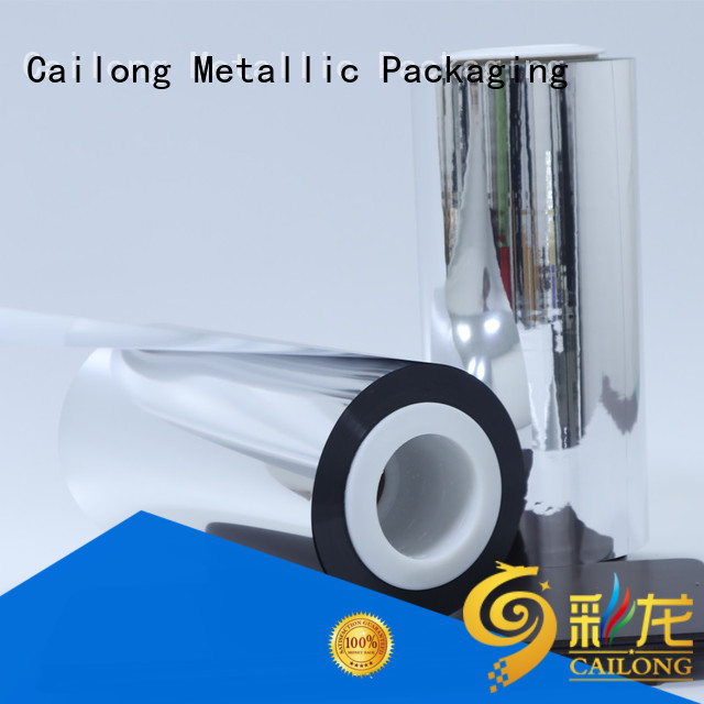 Cailong vacuum metalized polyester film owner for shopping bags