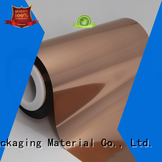 Cailong Good thermal stability Copper Metallized PET Film with good price for alcohol