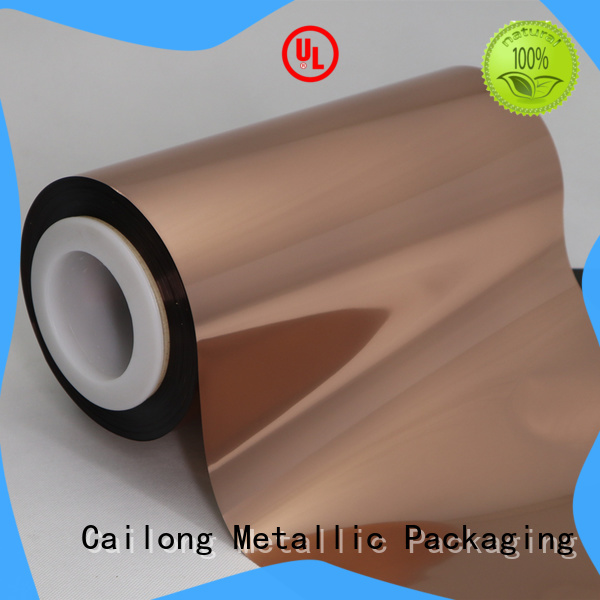 excellent Copper Metallized PET Film pet with many colors for alcohol
