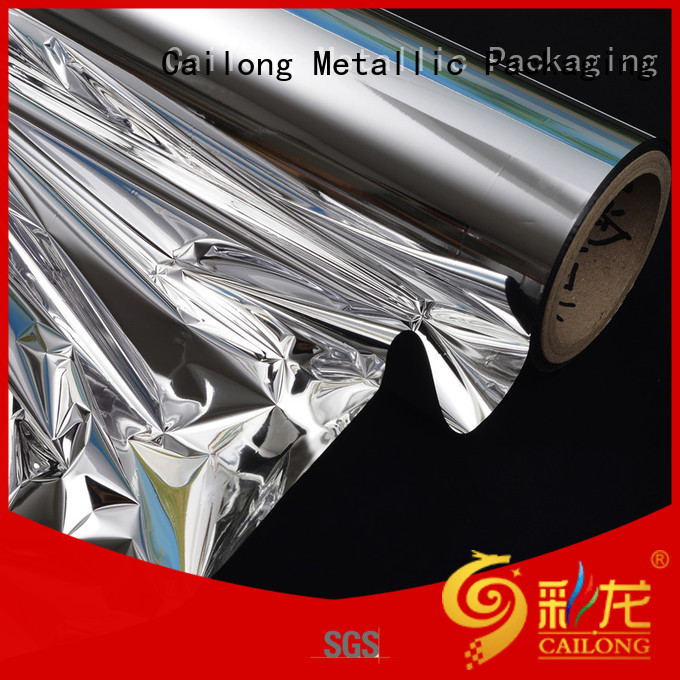 Multiple Aluminum reflective metalized film pvc factory price for bag producing