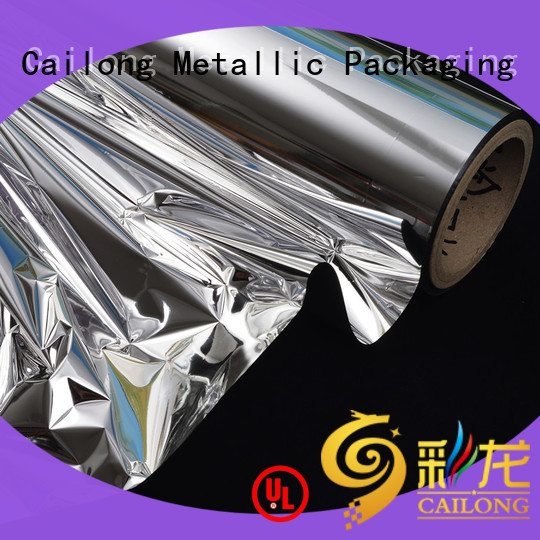 Cailong nano metalized plastic film factory price for shopping bags