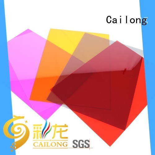 Cailong Textured polycarbonate plastic sheets with many colors for automobiles