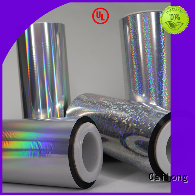 Cailong superior transparent holographic film free design for Tinplate