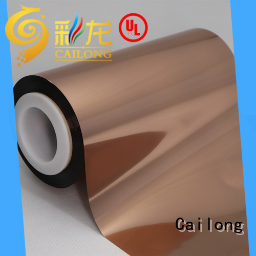 Cailong Copper Metallized PET Film workwear used for labels