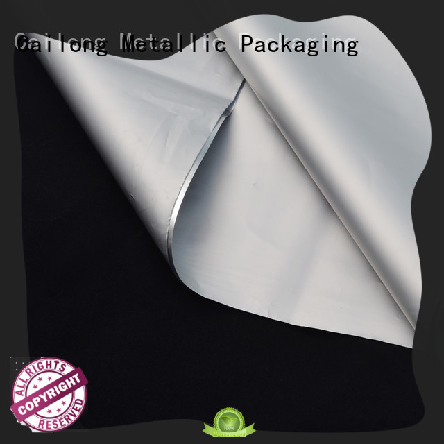 Cailong nano metallized plastic bulk production for shopping bags