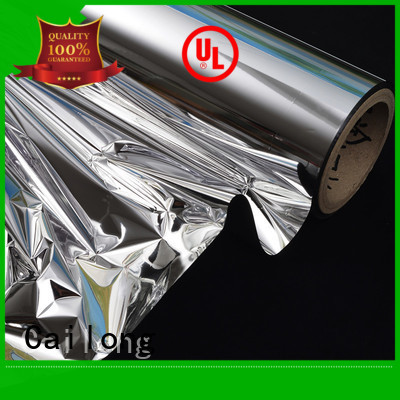 Cailong awesome metallized polyester film free design for advertising