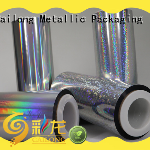 Cailong transparent holographic plastic sheets at discount for food