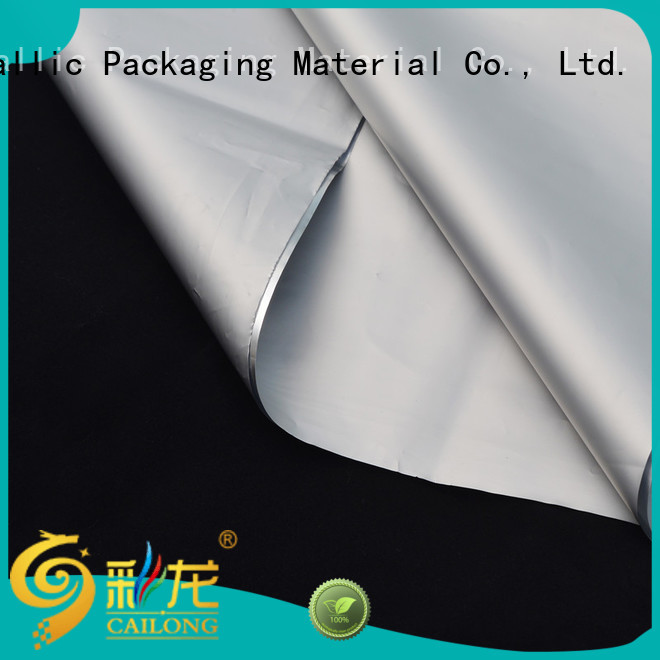 Cailong fabric metallized film check now used for medicine