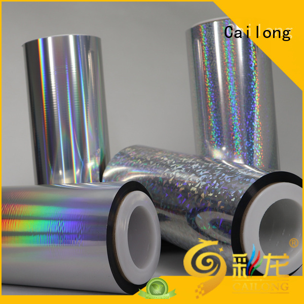 Cailong holographic holographic film factory price for non-woven composite