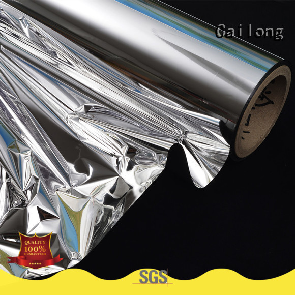 Cailong fine- quality metallized plastic factory price for cosmesics