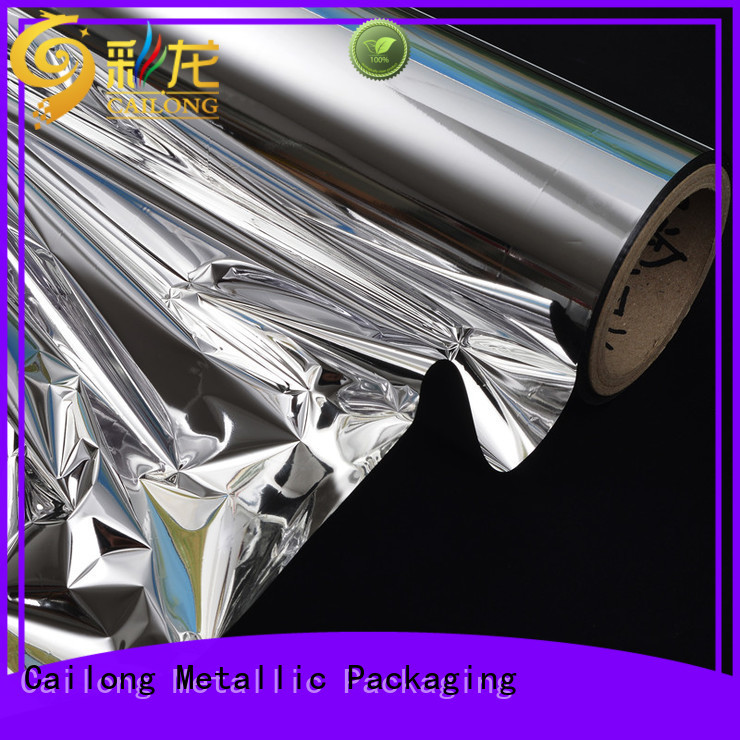 Cailong film metalized pvc film check now for advertising
