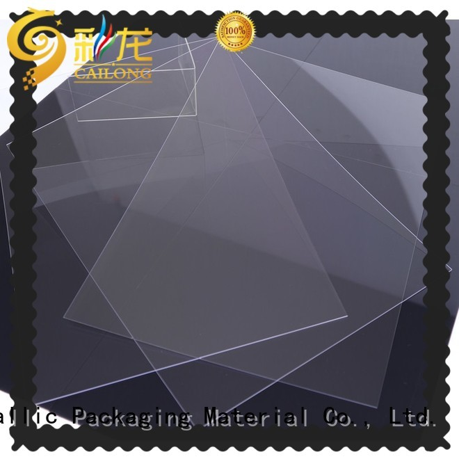 Cailong Transparent clear plastic sheets filmssheet for liquid crystal displays