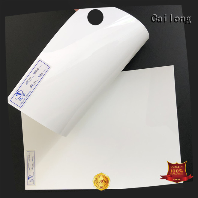 Cailong color transparent polycarbonate sheet from China for optical disk substrates