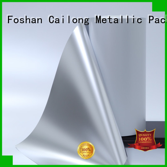 High flex crack resistance metalize film cost for cooked food Cailong