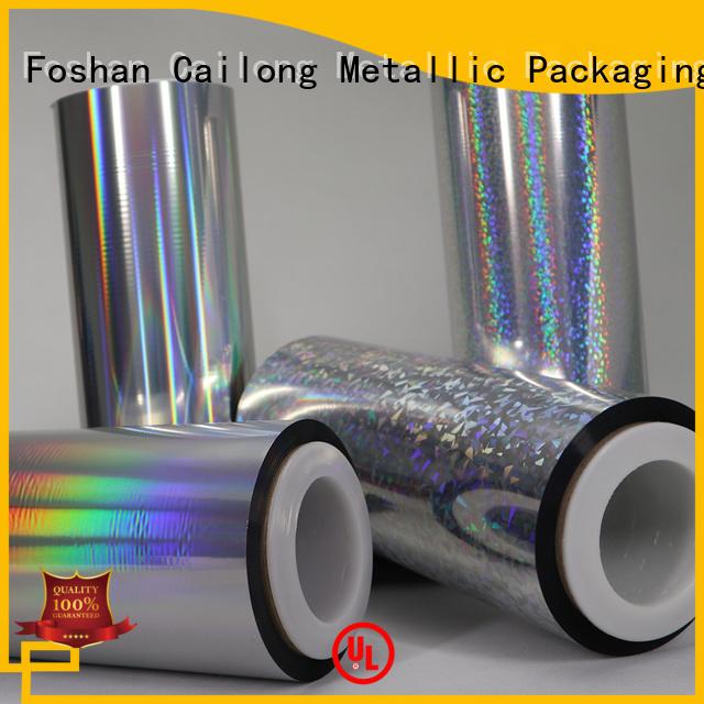 transparent hologram film transparent for daily chemicals Cailong