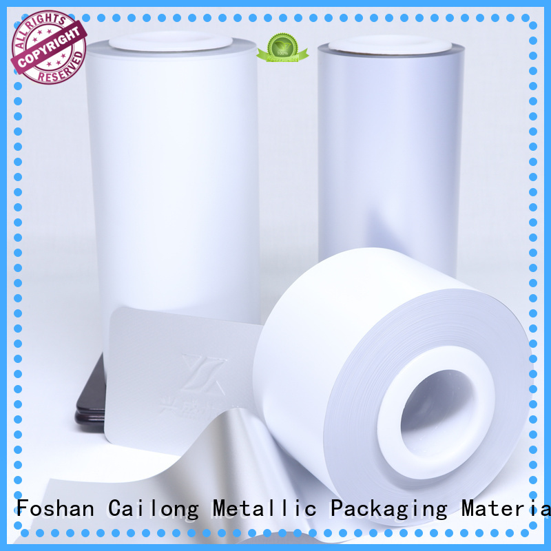 Cailong pet colored mylar rolls factory for cosmestics