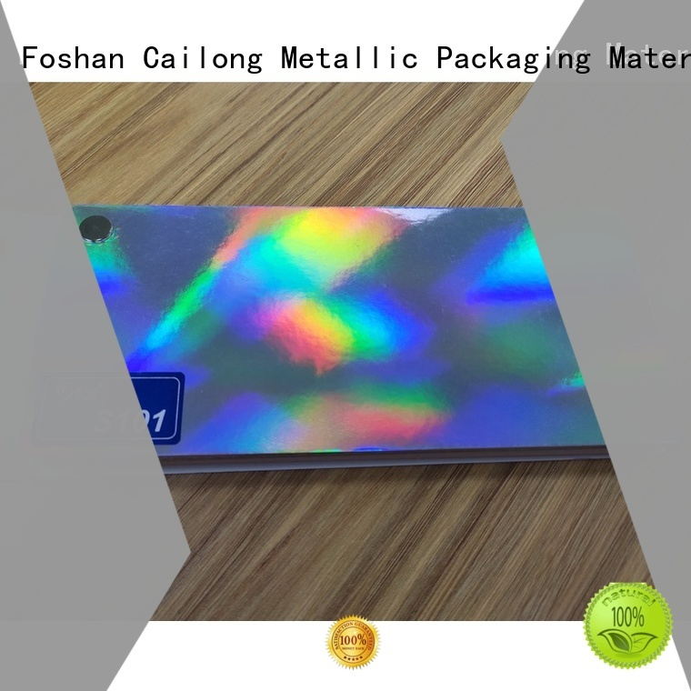 Cailong polyester holographic plastic sheets free design for alcohol
