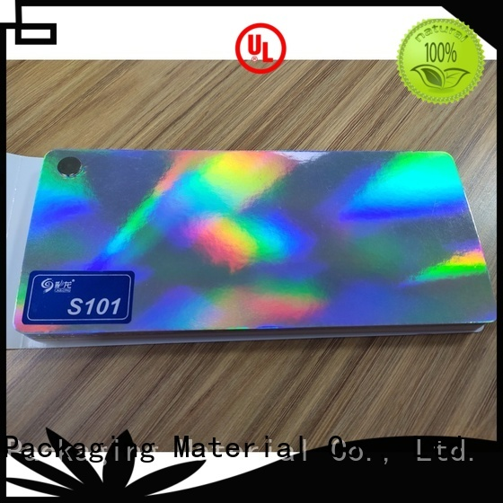 Cailong stable holographic film free design for alcohol