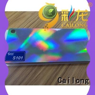 Cailong reliable holographic window film bulk production for non-woven composite