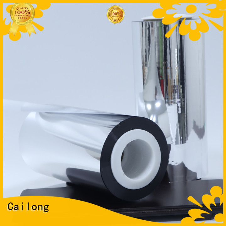 Cailong High flex crack resistance metalized pet film ffor Decorative