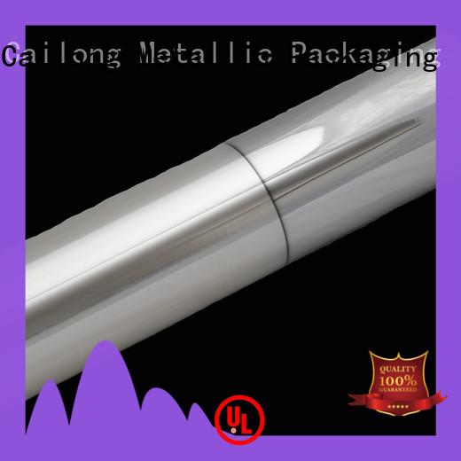 Cailong High barrier metallic film pet for decorative materials