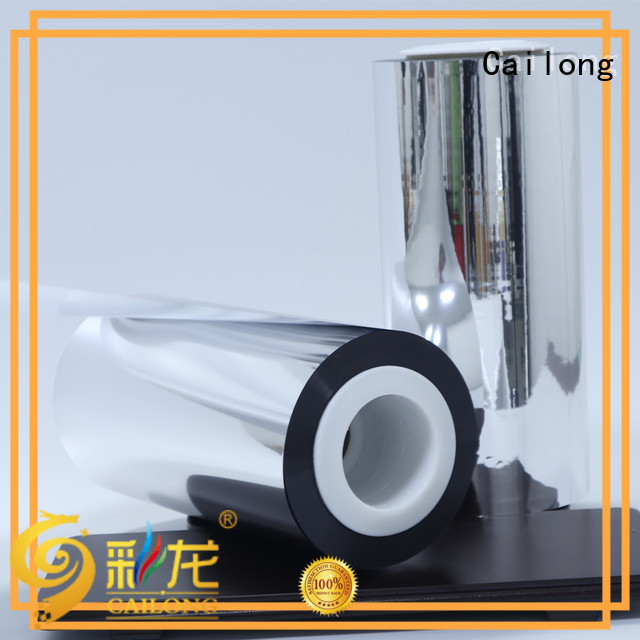 Cailong chemical metalized pet film owner used for stickers