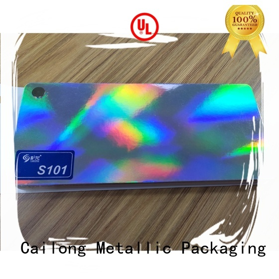 Cailong polyester holographic film at discount for food