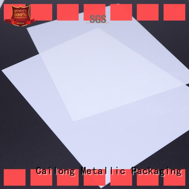 Cailong Transparent polycarbonate plastic roll filmsheet for LED lighting