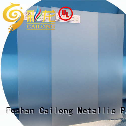 Cailong Textured pc film directly sale for optical disk substrates